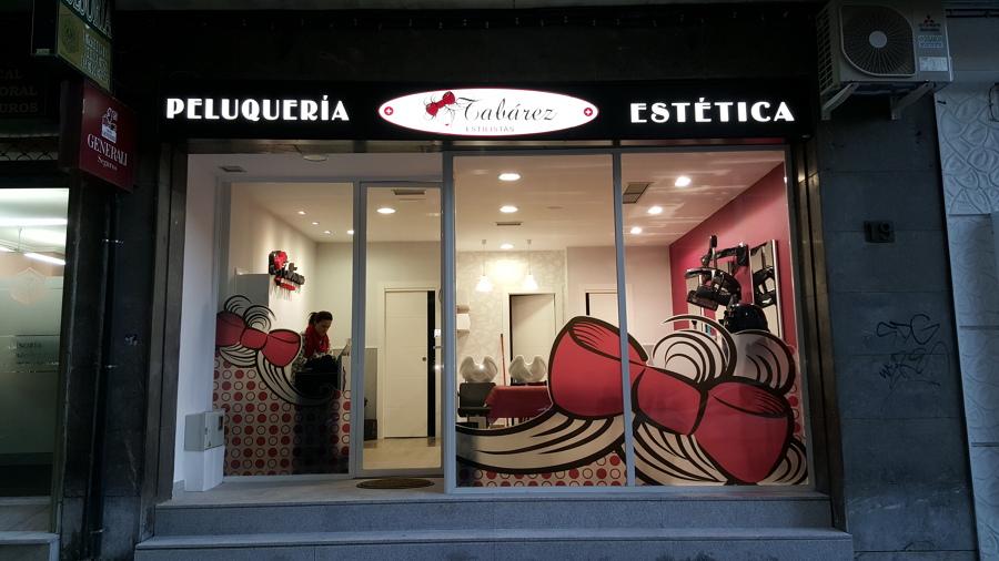 Adecuaci n de un local para peluquer a tabarez estilistas - Fachadas de peluquerias ...