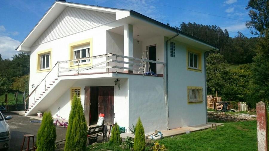 Saneado pintado de fachadas en vivienda unifamiliar ideas rehabilitaci n fachadas - Pintado de fachadas ...