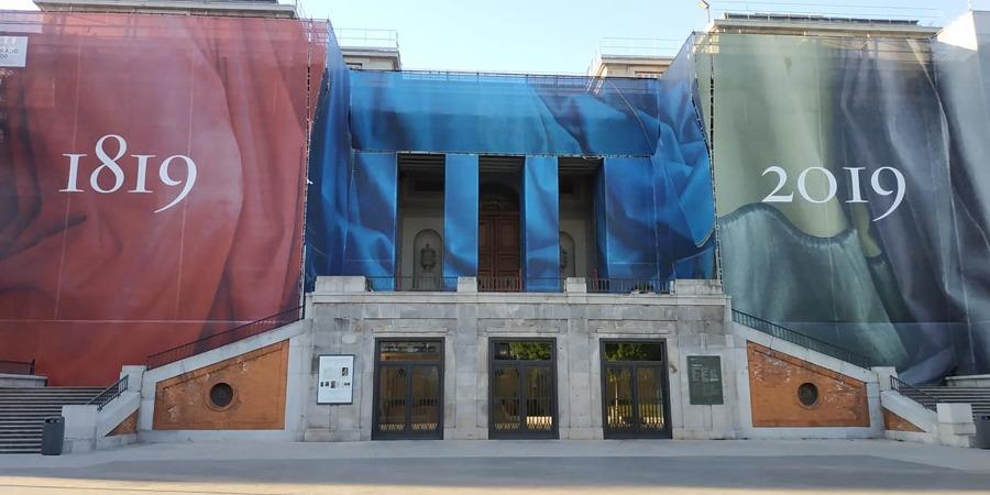 Fachada Museo Del Prado en obras