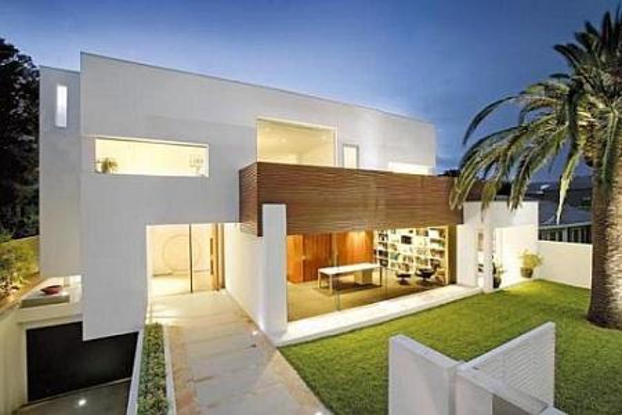 El estilo minimalista en las fachadas ideas for Cost of building a house in houston