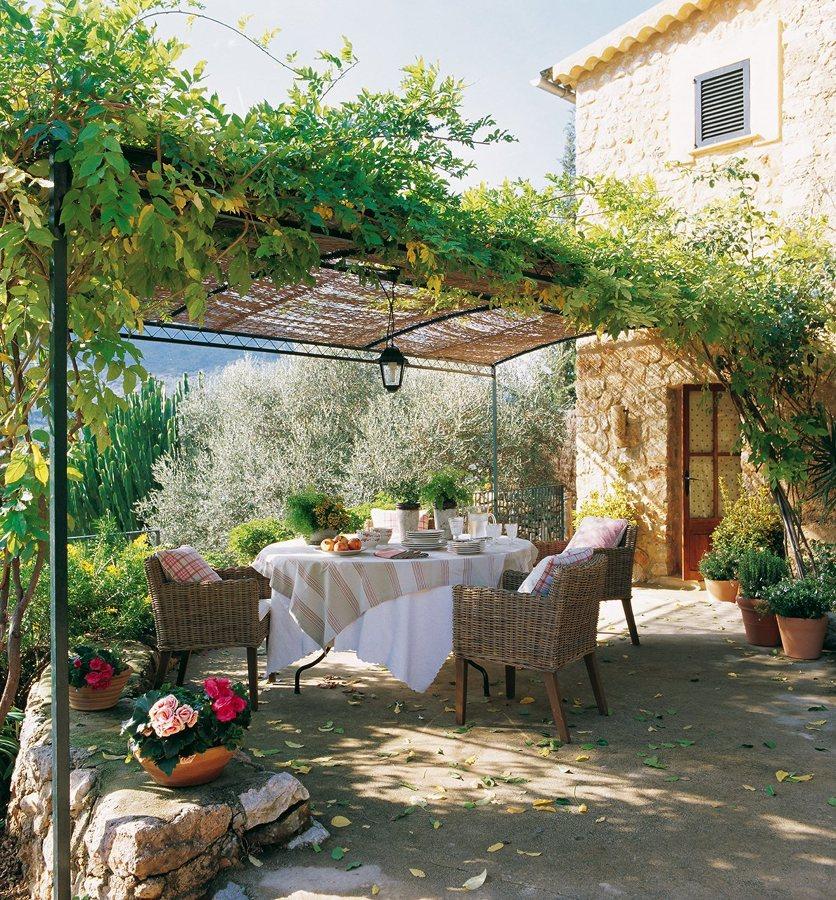 Inunda el exterior de tu casa con flores y plantas ideas - Fuentes para terrazas ...