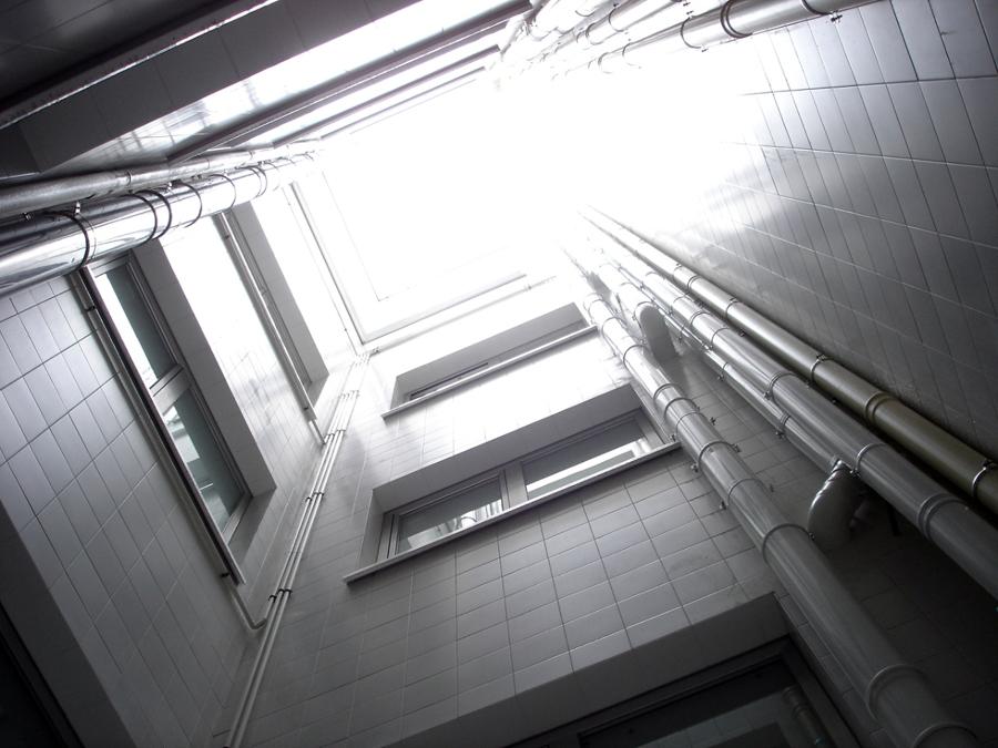 Fachadas interiores.
