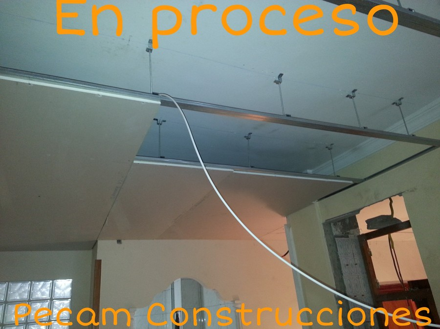 Como hacer un falso techo barato great affordable top cmo hacer falsos techos de pladur clculos - Como hacer un falso techo ...