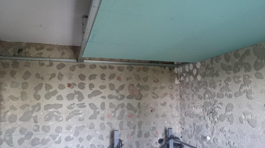 Foto falso techo de pladur con placas antihumedad - Falsos techos para banos ...