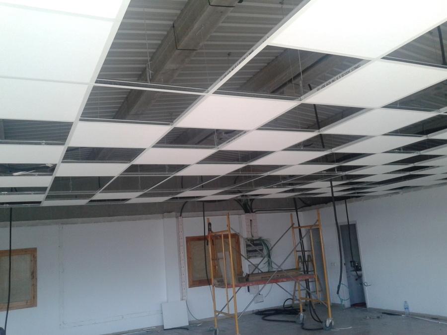 Falso techo y tabiqueria ideas pladur - Falsos techos registrables ...