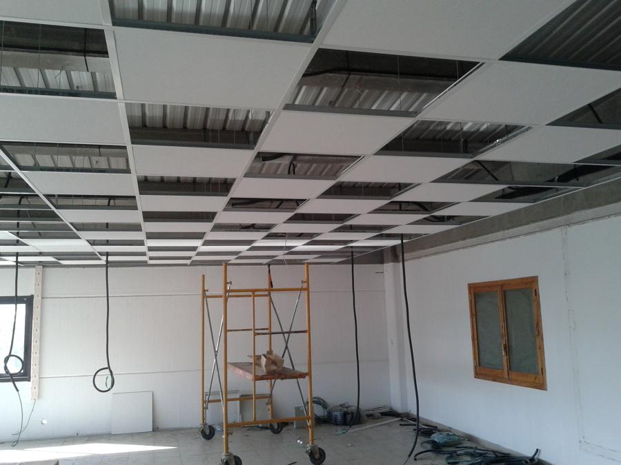 Como hacer un falso techo techo postizo en salon carpinteria santa claraavi with como hacer un - Como hacer un falso techo ...