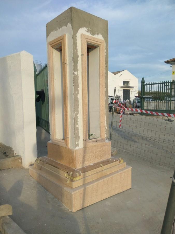 Fase de construcción de pilastra