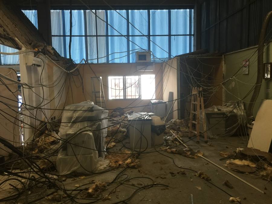 Fase de demolición