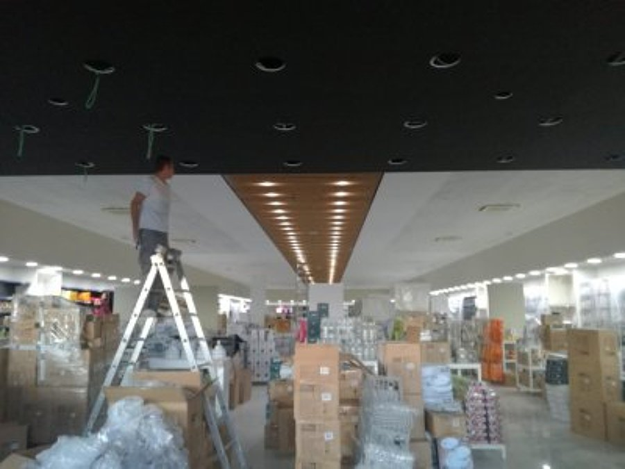 Fase de mecanizado en techo
