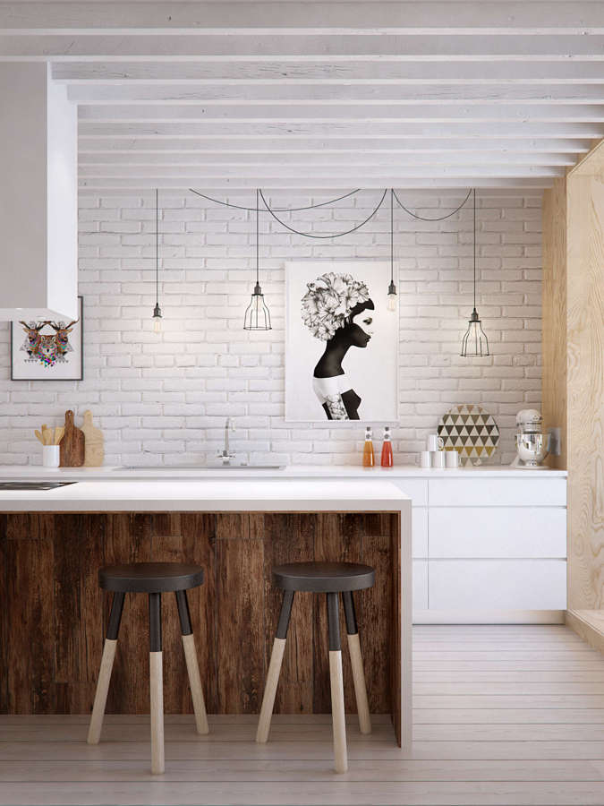 cuadro que llama la atención en la cocina