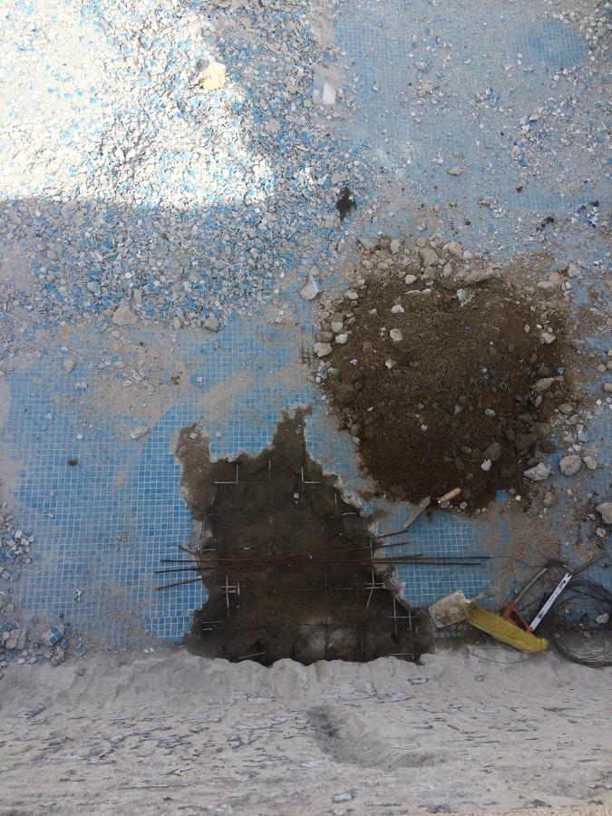Arreglo de perdidas de agua y cambio de gresite en piscina - Filtrado de agua ...