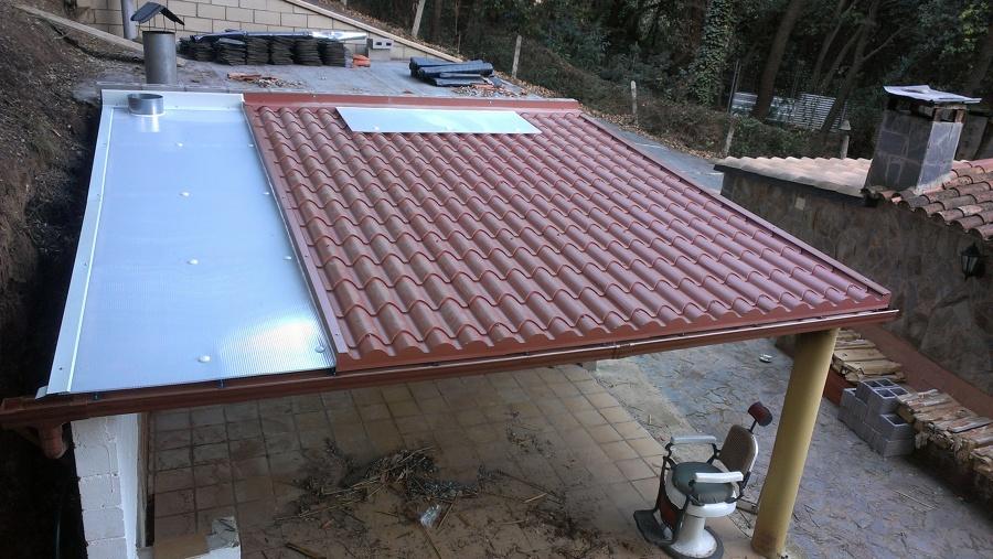 Cubierta s ndwich imitaci n teja ideas tejados - Planchas para tejados ...
