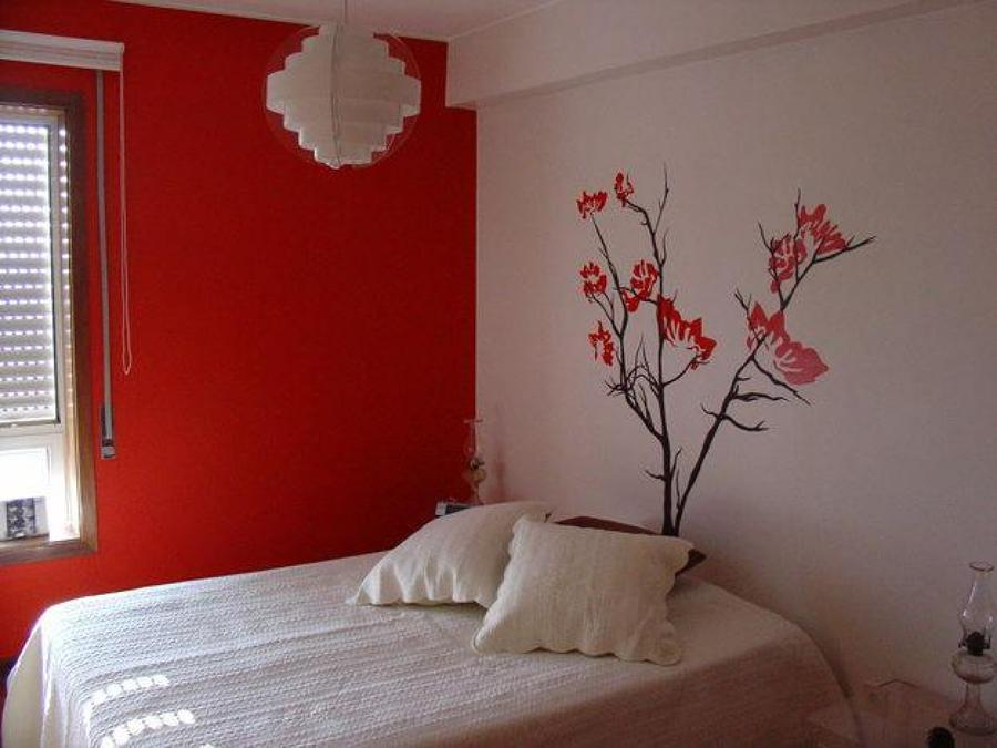Flor de vinilo pared dormitorio