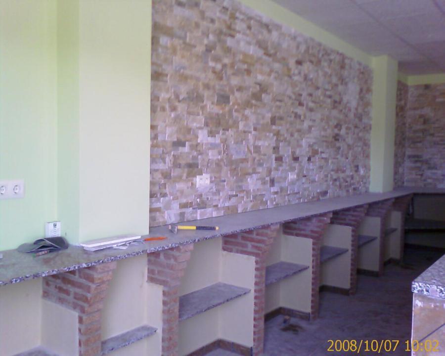 Fondo detrás de barra bar en cafetería