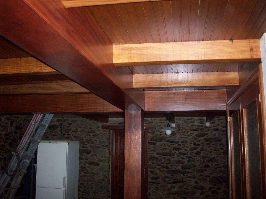 Forjado de madera maciza