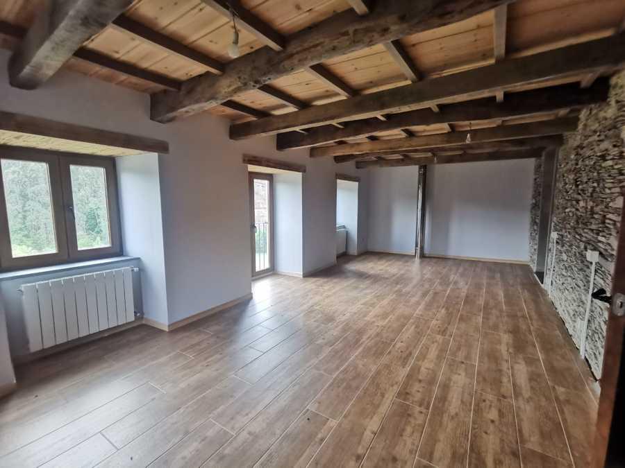 Forjado dormitorio madera machiembrada de pino
