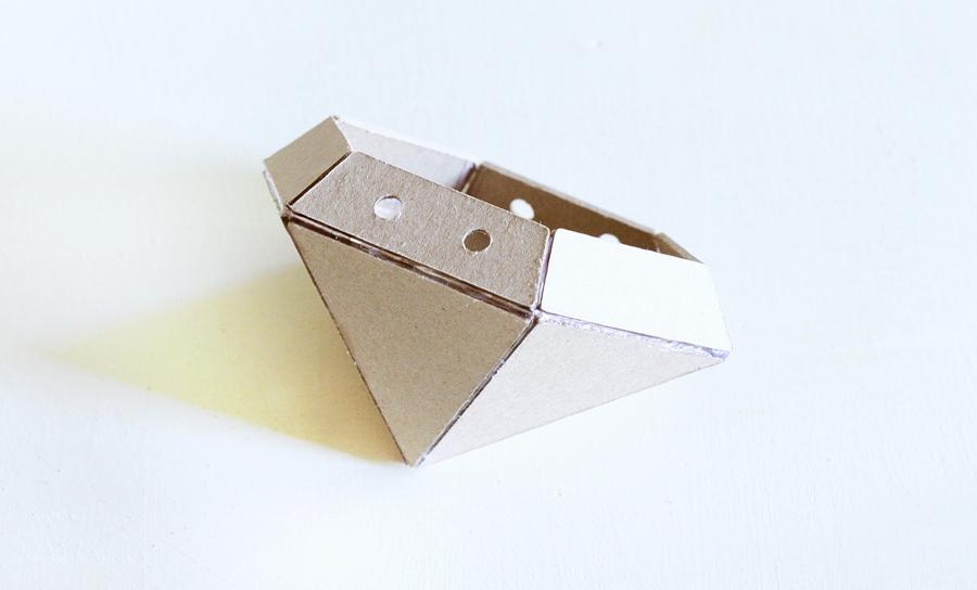 Forma geométrica cartón