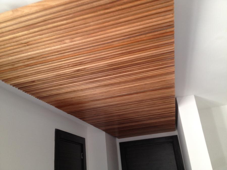 Forrado del techo en maderas