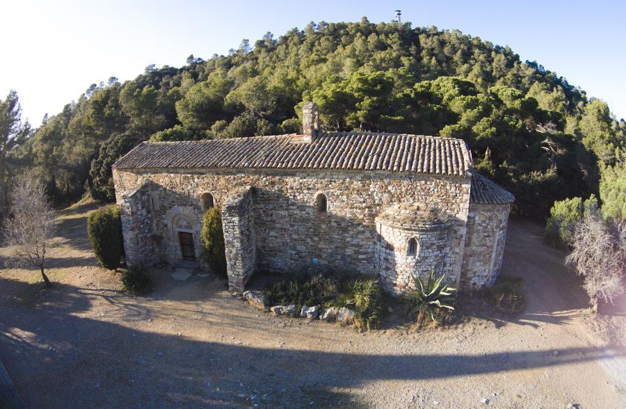 foto aerea de la ermita