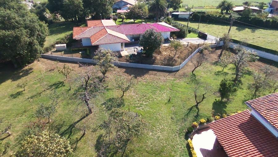 Foto aérea muro terminado