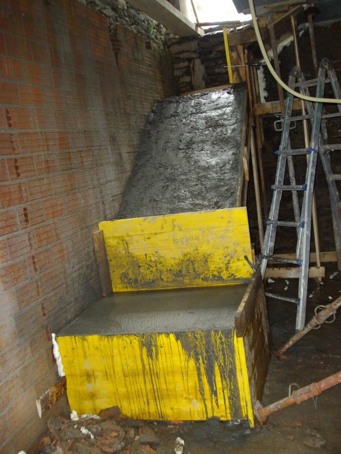 Foto rampla escaleras