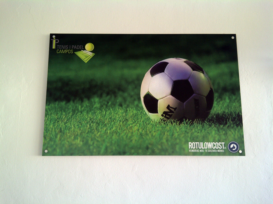 Fotografía impresión digital sobre aluminio - Club de Pádel Campos
