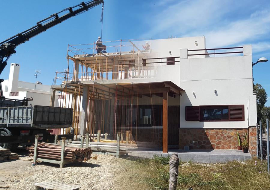 Fotomontaje construcción vivienda