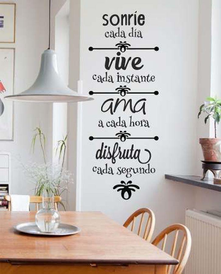 Foto frases en la pared de cobos 1616273 habitissimo - Frases para vinilos habitacion ...