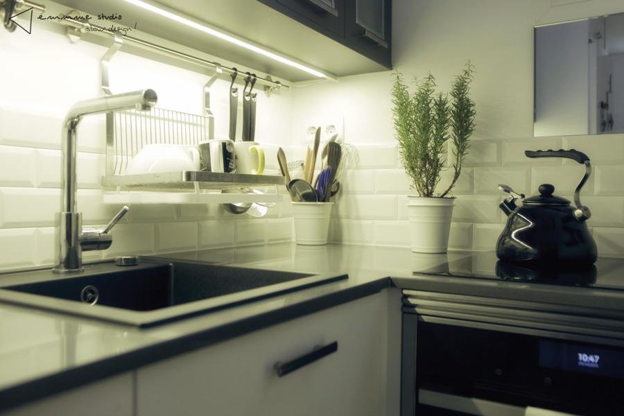 La cocina de Ana y Paul por emmme studio:Fregadero