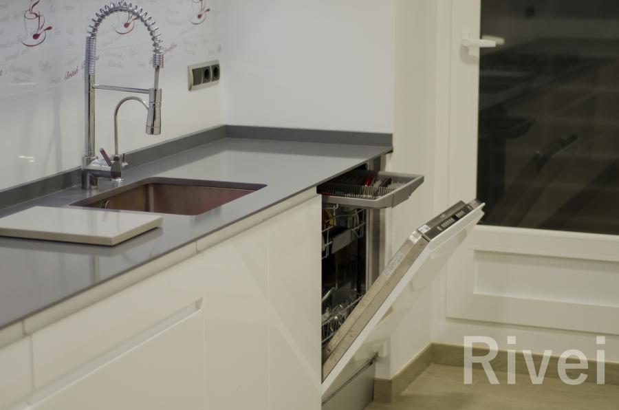 Fregadero y lavavajillas integrado