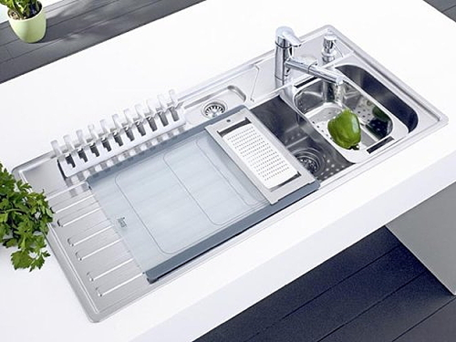 Tendencias modernos fregaderos de cocina ideas reformas for Fregaderos modernos