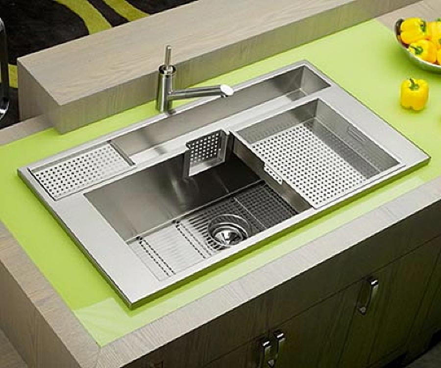 Tendencias modernos fregaderos de cocina ideas reformas for Utensilios modernos