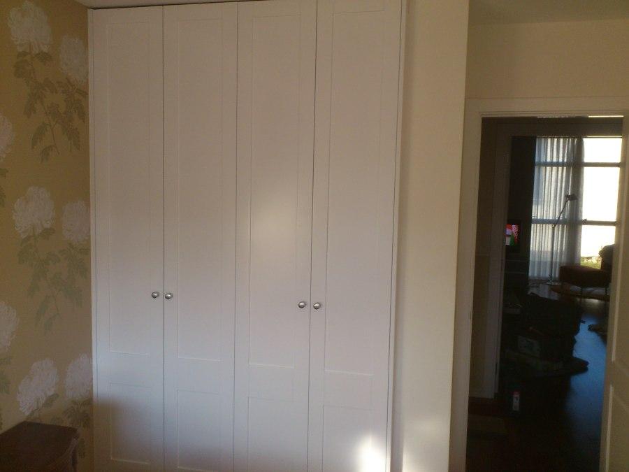 Frente de armario lacado blanco