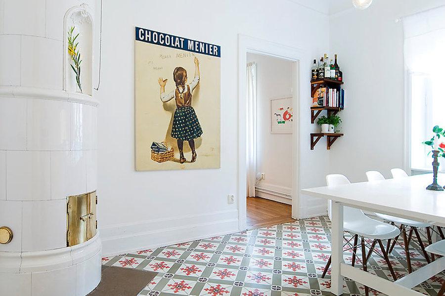 Suelos muebles y maletas mi hogar vintage ideas - Suelo hidraulico cocina ...