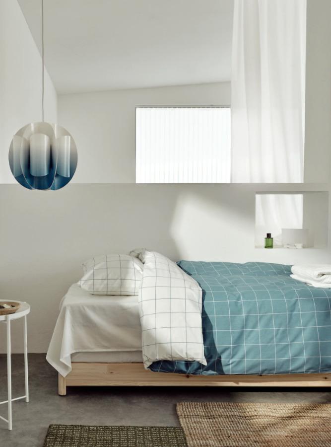 Funda nórdica azul y blanca IKEA novedades verano 2021