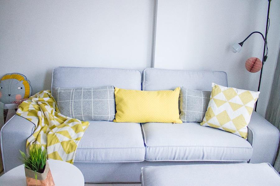 Funda para sof de ikea modelo kivik y resposapies en tela pandora zinc ideas tapiceros - Funda sofa kivik ...
