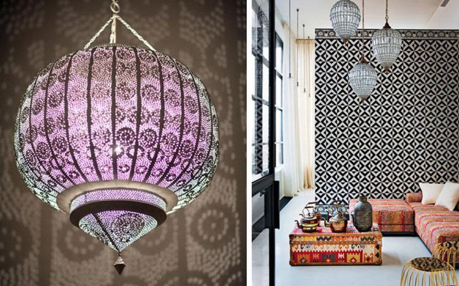 Decora tu casa al estilo rabe ideas art culos decoraci n - Lamparas para salones modernos ...