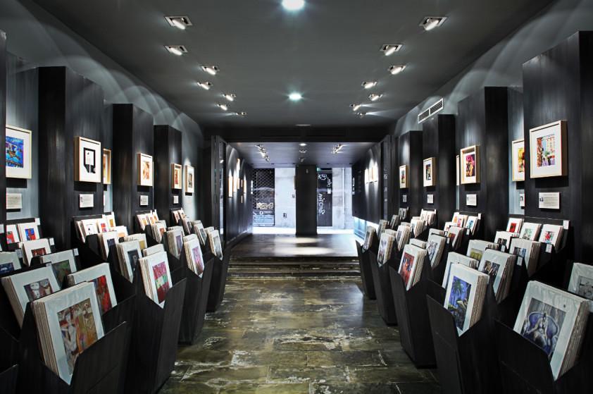 galeria carre d 39 artistes bcn proyectos arquitectos. Black Bedroom Furniture Sets. Home Design Ideas