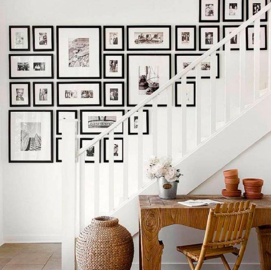 C mo crear una galer a de cuadros en tu pared ideas for Como hacer un cuadro con fotos familiares