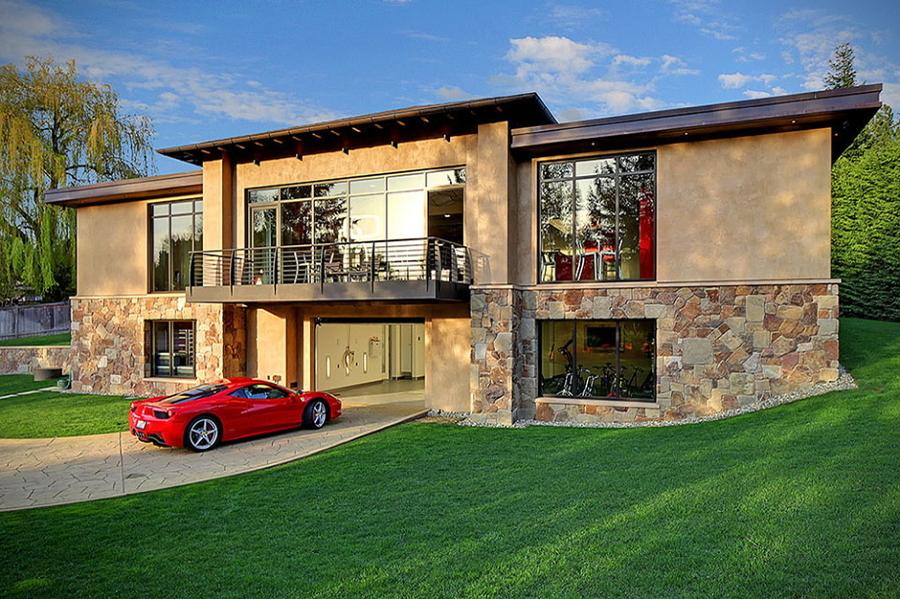 Ideas para guardar tu coche casas con garaje en el sal n - Garaje de coches ...