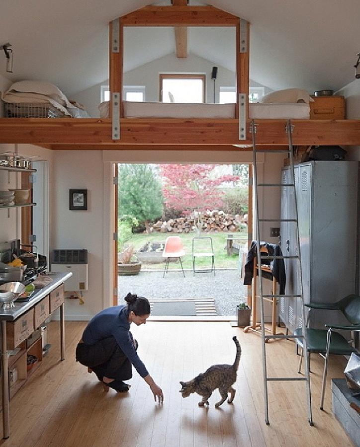 Casas peque as con mucho estilo ideas construcci n casas for Big garage for rent