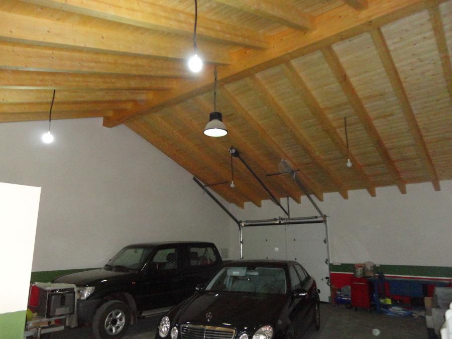 garaje tejado madera