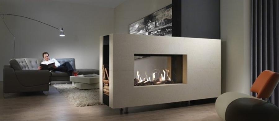 Chimeneas y estufas de gas calor seguro limpio y a bajo for Lenos a gas modernos