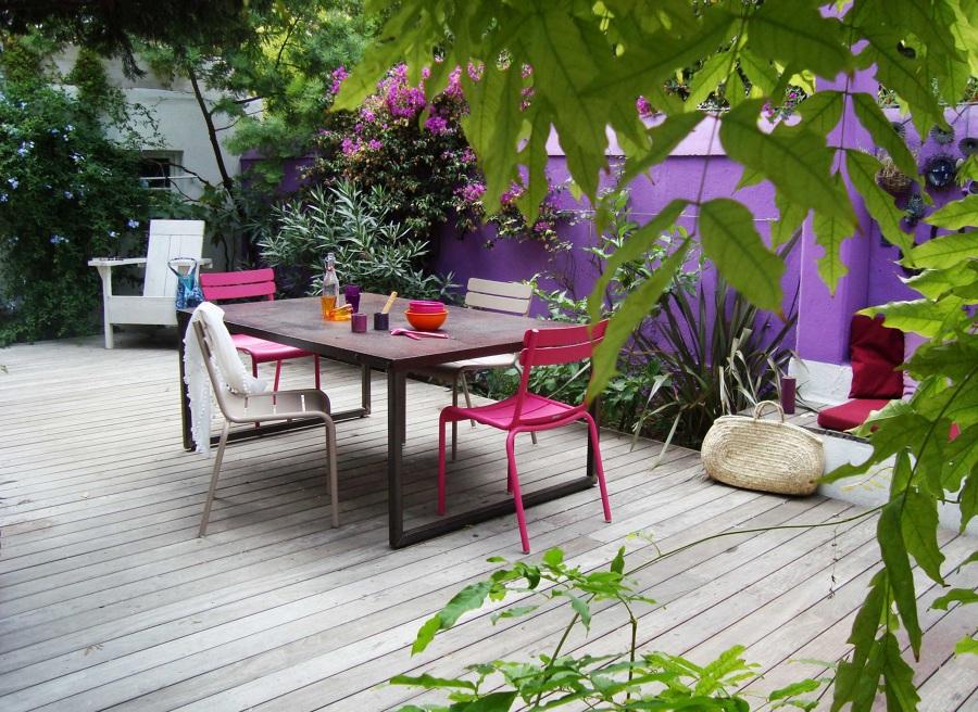 suelo de madera de una terraza
