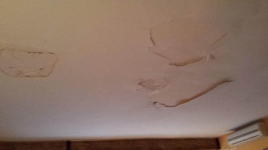 Foto goteras y desprendimiento de techo de decoracion y for Gotera en la regadera