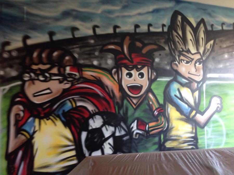 Graffiti mural en una habitacion infantil en barcelona - Decoradores en barcelona ...