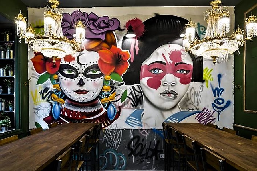 Graffity fusión comida mejicano-asiática
