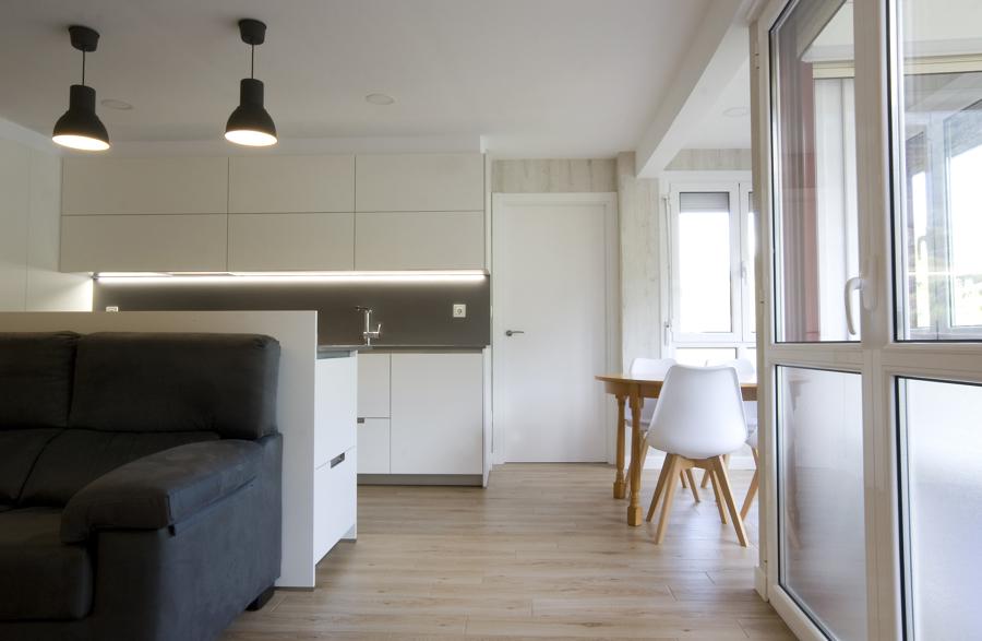 Gran espacio cocina-comedor-estar