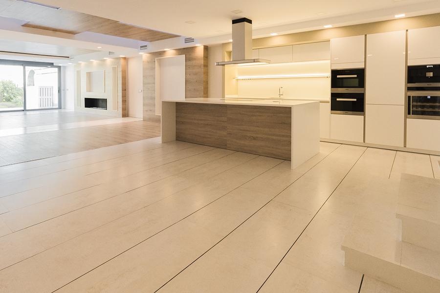 Gran espacio diáfano salon cocina