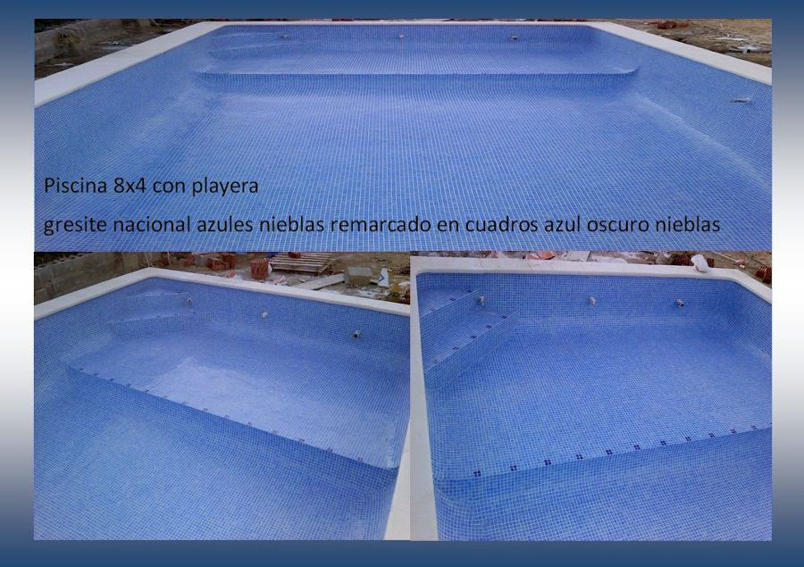 Colocaci n mosaico v treo ideas reformas piscinas - Precio gresite piscina ...